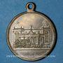 Monnaies Alsace. Mulhouse. Cercle St Joseph. Bénédiction du drapeau. 1901. Médaille en laiton argenté. 29 mm