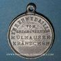 Monnaies Alsace. Mulhouse. Chorale  Mülhauser-Kränzchen (1895). Médaille étain. 29,08 mm