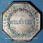 Monnaies Alsace. Mulhouse. Comptoir d'Escompte. 1854. Jeton de présence en argent