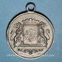 Monnaies Alsace. Mulhouse. Concours musical. 1885. Médaille en étain. 28 mm