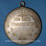 Monnaies Alsace. Mulhouse-Dornach. 1ère pierre de l'église catholique. 1898. Médaille laiton argenté. 33,5 mm