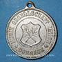 Monnaies Alsace. Mulhouse-Dornach. Société Union. Consécration du drapeau. 1898. Médaille zinc nickelé. 27 mm