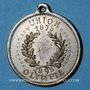 Monnaies Alsace. Mulhouse-Dornach. Union Olympia. 1900. Médaille laiton nickelé. 27 mm
