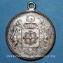 Monnaies Alsace. Mulhouse. Fête des pompiers. 1897. Médaille en laiton argenté. 29 mm. Avec sa bélière