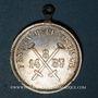Monnaies Alsace. Mulhouse. Fête nautique - Cercle nautique strasbourgeois 1887. Médaille laiton argenté