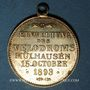 Monnaies Alsace. Mulhouse. Inauguration du vélodrome. 1893. Médaille en laiton jaune. 28 mm.