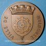 Monnaies Alsace. Mulhouse. Jumelage de la ville de Mulhouse avec la ville d'Anvers. 1957. Médaille br. 68 mm