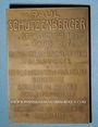 Monnaies Alsace. Mulhouse. Paul Schutzenberger (1829-97). (1916). Plaquette br. 49,6x70 mm, gravée G. Urbain