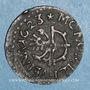 Monnaies Alsace. Mulhouse. Rappenvierer 1623