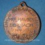 Monnaies Alsace. Mulhouse. Rattachement de Dornach. 1914. Médaille en cuivre. 27 mm