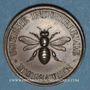 Monnaies Alsace. Mulhouse. Société Industrielle. Jeton de présence. Bronze. 30 mm. Poinçon : main indicatrice