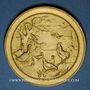 Monnaies Alsace. Mulhouse. Société ornithologique de Mulhouse. Médaolle bronze doré