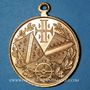 Monnaies Alsace. Mulhouse. Tournoi de gymnastique des Jeunesses Catholiques. 1908. Médaille cuivre doré 28 mm