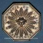 Monnaies Alsace. Orschwihr. Compagnie d'assurances Soleil- Sinistre à Orschwihr. 1840. Jeton octogonal en arg