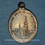Monnaies Alsace. Pèlerinage de Notre Dame de Marienthal (19e siècle. Médaille laiton. Laiton. 19,16 x 26,95 m
