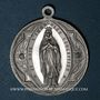 Monnaies Alsace. Pèlerinage féminin à Lourdes. Médaille aluminium