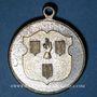 Monnaies Alsace. Ribeauvillé. Consécration drapeau société de gymnastique. 1899. Médaille laiton argenté