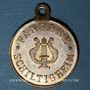 Monnaies Alsace. Schiltigheim. Fanfare. 1885. Médaille laiton. 23 mm