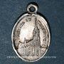 Monnaies Alsace. Souvenir de Notre Dame de Marienthal (19e siècle). Médaille aluminium. 10,74 x 16,02 mm