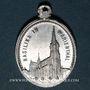 Monnaies Alsace. Souvenir de Notre Dame de Marienthal (19e siècle). Médaille aluminium. 9,63 x 26,38 mm