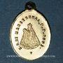 Monnaies Alsace. Souvenir de Notre Dame de Marienthal (19e siècle). Médaille laiton. 12,25 x 17,60 mm