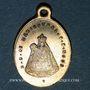 Monnaies Alsace. Souvenir de Notre Dame de Marienthal (19e siècle). Médaille laiton. 13,81 x 19,82 mm