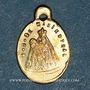 Monnaies Alsace. Souvenir de Notre Dame de Marienthal (19e siècle). Médaille laiton. 8,26 x 12,7 mm