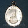 Monnaies Alsace. Souvenir de Notre Dame de Marienthal (19e siècle). Médaille laiton argenté. 17,45 x 25 mm