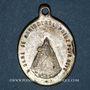 Monnaies Alsace. Souvenir de Notre Dame de Marienthal (19e siècle). Médaille laiton argenté. 18,90 x 26,74 mm
