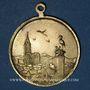 Monnaies Alsace. Souvenir de Strasbourg. Médaille laiton. 28,6 mm. Avec son anneau