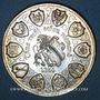 Monnaies Alsace. Strasbourg. 12e anniversaire de la création de l'U.N.A. 1984. Médaille argent. 42,2 mm