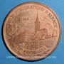 Monnaies Alsace. Strasbourg. 12e anniversaire de la création de l'U.N.A. 1984. Médaille cuivre. 42,2 mm