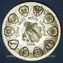 Monnaies Alsace. Strasbourg. 12e anniversaire de la création de l'U.N.A. 1984. Médaille laiton doré. 42,2 mm