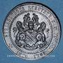Monnaies Alsace. Strasbourg. 25e anniversaire Association strasbourgeoise de tir. 1901. Médaille étain. 39 mm