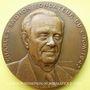 Monnaies Alsace. Strasbourg. 30e anniversaire du Centre de Recherche Macromoléculaire. 1977. Médaille bronze