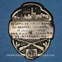 Monnaies Alsace. Strasbourg. 3e concours de tir. Bénédiction du drapeau de l'O.R.G.P.L. 1926. Insigne laiton