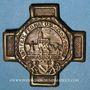 Monnaies Alsace. Strasbourg. 47e fête fédérale de l'Union des Sociétés de Gymnastique de France 1925. Insigne