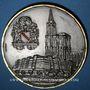 Monnaies Alsace. Strasbourg. A M. Joseph Bindl (Dingolfing). 1987. Médaille bronze argenté. 60 mm
