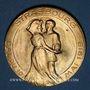 Monnaies Alsace. Strasbourg. Bal du 10 mai 1919. Médaille bronze. 38 mm
