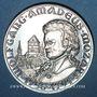 Monnaies Alsace. Strasbourg. Bicentenaire de la mort de Mozart. 1991. Médaille étain. 42 mm