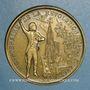 Monnaies Alsace. Strasbourg. Bicentenaire de la Révolution. 1989. Médaille bronze. 42 mm