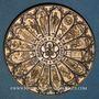 Monnaies Alsace. Strasbourg. Bimillénaire. 1988. Médaille bronze patiné. 60 mm