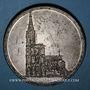 Monnaies Alsace. Strasbourg. Cathédrale - 8e centenaire pose de la 1ère pierre (1815). Médaille étain 49,5 mm