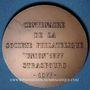 Monnaies Alsace. Strasbourg. Centenaire de la Société philatélique Union 1877. 1977. Médaille bronze. 42 mm
