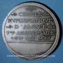 Monnaies Alsace. Strasbourg. Cercle Numismatique d'Alsace. 7e anniversaire. 1933. Médaille plomb argenté 60 m