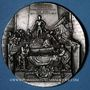 Monnaies Alsace. Strasbourg. Cercle Numismatique d'Alsace. 7e anniversaire. 1933. Médaille plomb argenté