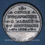 Monnaies Alsace. Strasbourg. Cercle Numismatique d'Alsace. 8e anniversaire. 1934. Médaille étain. 45 mm