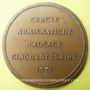 Monnaies Alsace. Strasbourg. Cinquantenaire du Cercle Numismatique d'Alsace. 1975. Médaille  bronze. 42 mm