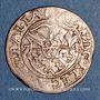 Monnaies Alsace. Strasbourg. Evêché. Jean de Manderscheid (1569-1592). 2 kreuzers 1574. Molsheim