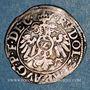 Monnaies Alsace. Strasbourg. Evêché. Jean de Manderscheid (1569-1592). 2 kreuzers 1590. Saverne